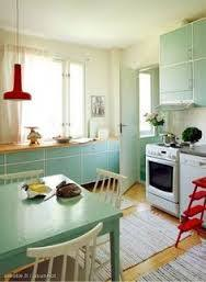 Vintage Retro Kitchen In Finland