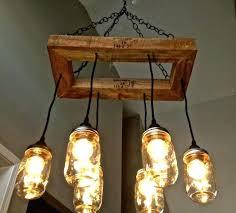 jar chandelier jar lighting jar fixture edison