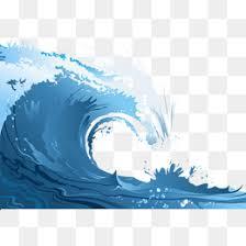Blue waves Blue Seawater Danger PNG Image