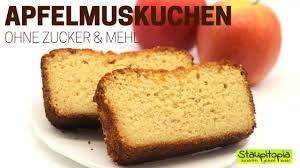saftiger apfelmuskuchen ohne zucker und mehl low carb kuchen rezepte