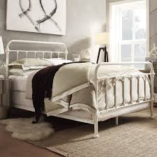 Wrought Iron King Headboard by Headboards Winsome White Iron Headboard White Metal Headboard