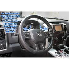 100 Ram Trucks 2013 2018 Dodge 1500 Leather Steering Wheel Cover Driver Black