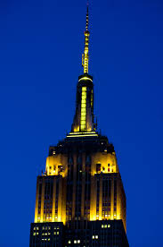 June 2 2016 The Empire State Building lights in pencil yellow to