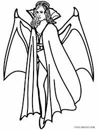 Pin Drawn Vampire Coloring Page 8