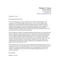 Sample Senior Manager Cover Letter Project