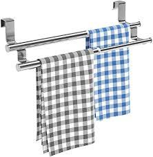 küchenhandtuchhalter über schranktüren ausziehbar doppeltes handtuchhalter für die tür universell passend auf innen oder außenseite