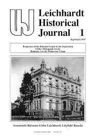 100 House Leichhardt Historical Journal Vol 120 Is Now Online