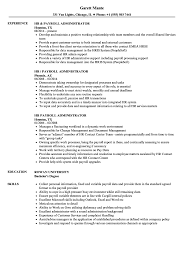 Download HR Payroll Administrator Resume Sample As Image File
