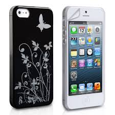 YouSave iPhone 5 5S Floral Case Black