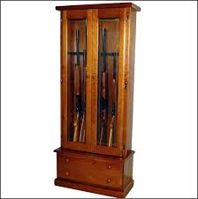 Wooden Gun Cabinet With Etched Glass by Wood Gun Cabinet With Deer Etched Glass Best Home Furniture Design
