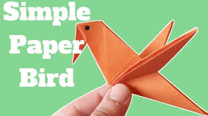 How To Make A Simple Paper Bird