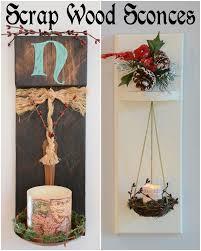 Scrap Wood Sconces Christmas Decorations Crafts Diy Lighting Repurposing Upcycling