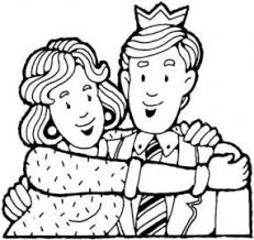 Image Wife Hugs Her Husband Coloring Page Thumb For Term