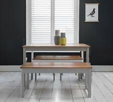 Dining Table With 2 Benches Set Kitchen In Choice Of Colours