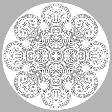 Mandala Adult Coloring Page 1 Thumbnail