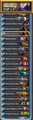 hearthstone priest deck beginner free to play september 2015 fans