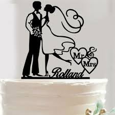 Rustic Acrylic Cake Topper Wedding Bride And Groom Mr Mrs Toppers For Weddings Decoration In Decorating Supplies From Home