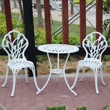 China Lightweight Aluminum Bistro Set Metal Patio Furniture ...