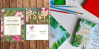 Tropical Wedding Invitations For Destination Weddings