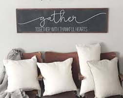 Gather Sign Large Dining Room Living Mantle Decor