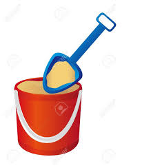 Bucket And Spade With Sand Vector Illustration Stock
