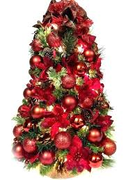 Poinsettia Trees Tabletop Tree Stand Artificial Christmas Lights