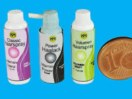 3 dosen haarspray als miniatur für das puppenhaus