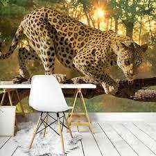 details zu vlies fototapete tiger leopard tiere katze wohnzimmer wandtapete tapete 18