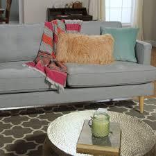 dove gray woven apel sofa world market