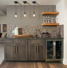 in vogue with grey contemporary home bar calgary by