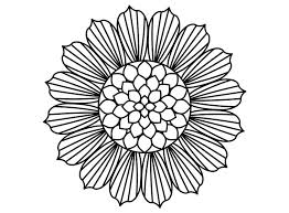 Sunflower Coloring Pages Full Size Of Flowers Roses Simple Drawing Page Free Printable