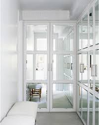 Mirrored Doors Contemporary closet