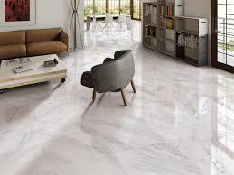 white marble effect floor tiles
