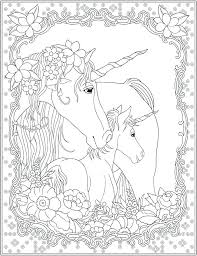 Unicorn Printable Coloring Pages Page Realistic
