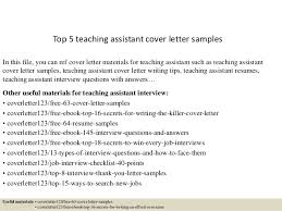 top 5 teaching assistant cover letter samples 1 638 cb=