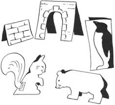 Create Cut Out Standing Paper Animals