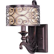 mondrian 7 1 light wall sconce in umber bronze with an