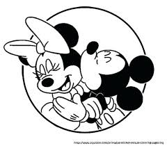 Full Image For Mickey Kiss Minnie Coloring Page And Mouse Pages Printable Classic