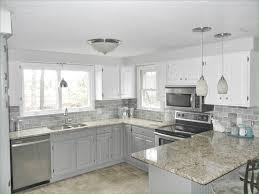 gray subway tile kitchen new our oak kitchen makeover top