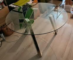 runder glastisch esstisch küchentisch glas rund küche esszimmer