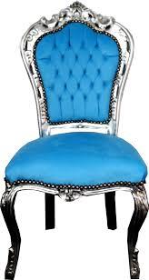 casa padrino barock esszimmer stuhl türkis silber barock möbel stühle interior
