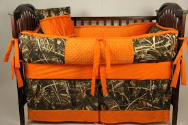 max 4 camo bed set max 4 custom made baby crib bedding with orange