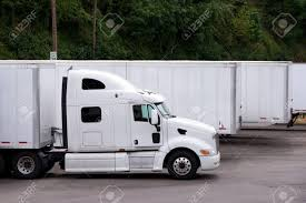 100 Rig Truck A Stylish Modern White Big Semi With A Large Comfortable