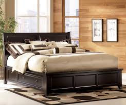 martini suite cal king panel platform bed with side drawer storage