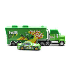 100 Lightning Mcqueen Truck Disney Pixar Cars 2 Toys 2pcs McQueen Mack The King