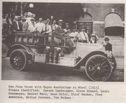 100 First Fire Truck 1915 Upland California Gets It First Fire Truck In Downtown Upland