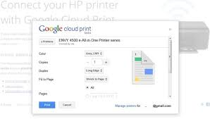 Setting Up Google Cloud Print Is A Matter Of Putting In The Envy 4500s EPrint Service