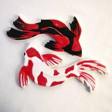 handmade ceramic mosaic koi tiles fish painted tiles for