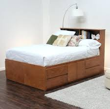 Sears Platform Beds by Bed Frames San Francisco Bedroom Unique Brown Painted Walnut Wood