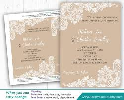 DiY Printable Wedding Invitation Template